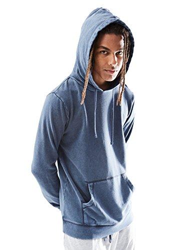 Rebel Canyon Young Men's Hoodie Vintage Wash Sweatshirt Top Large Navy (Pullover Vintage)