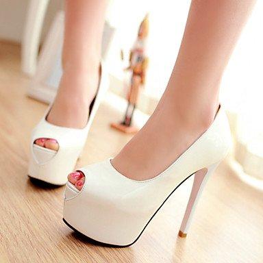 Fur Open Front Shoes Cirior Heels Toe Women's Sundalen Dress White High Heels Faux Women's Free Shoe xxYqPvA
