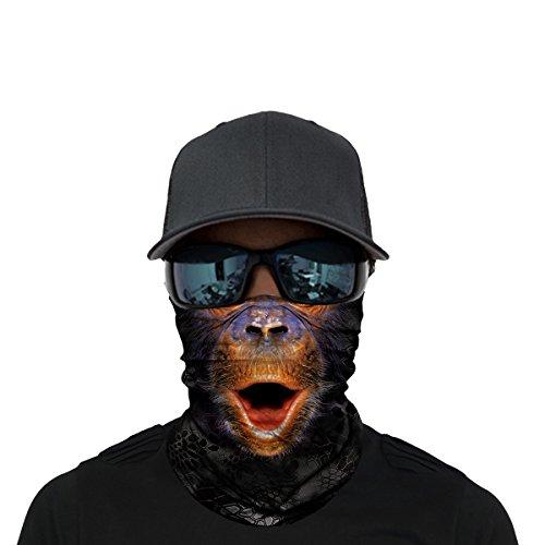 Rawr Face - OUYZY Neck Gaiter, Headwear, Face Sun Mask, Magic Scarf, Bandana, Balaclava, Headband for Cycling, Fishing, Hunting, Motorcycling, Running, Skateboarding, Moisture Wicking UV Protection