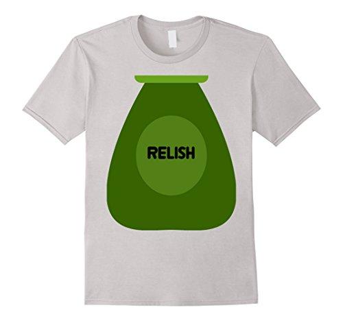 Men's Relish Bottle Condiment Pickles Halloween Costume T-Shirt 3XL Silver