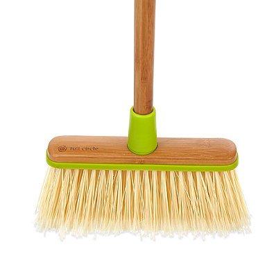 Full Circle Clean Sweep Wood Broom in Green, 4-3/10'' L x 10-3/5'' W x 52'' H