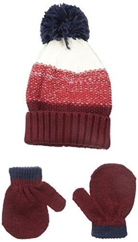 Carters Baby-Boys Cuff Hat and Mitten Set, Red, 0-9 (Carters Knit Set)