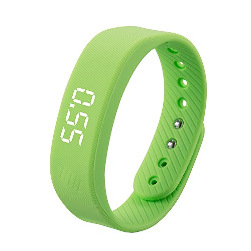 Smart Wristband,iGank T5 Sports Fitness Bracelet, No need to install app (Green)