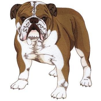 "Hundesportweste d.blau incl. hochwertigem Rückenstick ""Bulldogge"" DG0566"