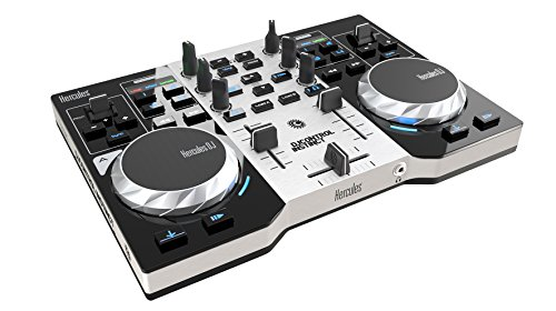 Hercules 4780846 2-Deck DJ Controller Instinct S Series (LED Party Light USB)