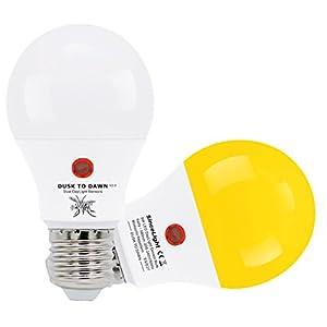 Lampadina a LED con doppio sensore di luce solare • 9 Watt • dal tramonto all'alba • ON/OFF automaticamente • 2 Pezzi… 8 spesavip