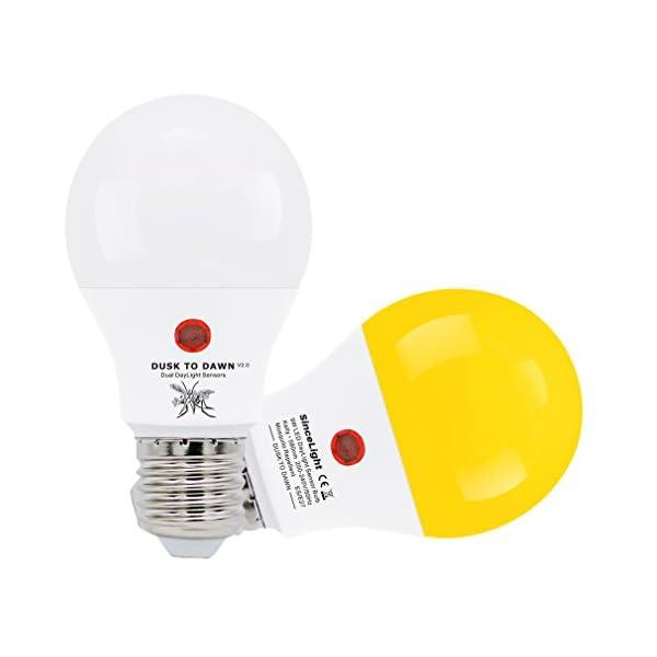 Lampadina a LED con doppio sensore di luce solare • 9 Watt • dal tramonto all'alba • ON/OFF automaticamente • 2 Pezzi… 1 spesavip