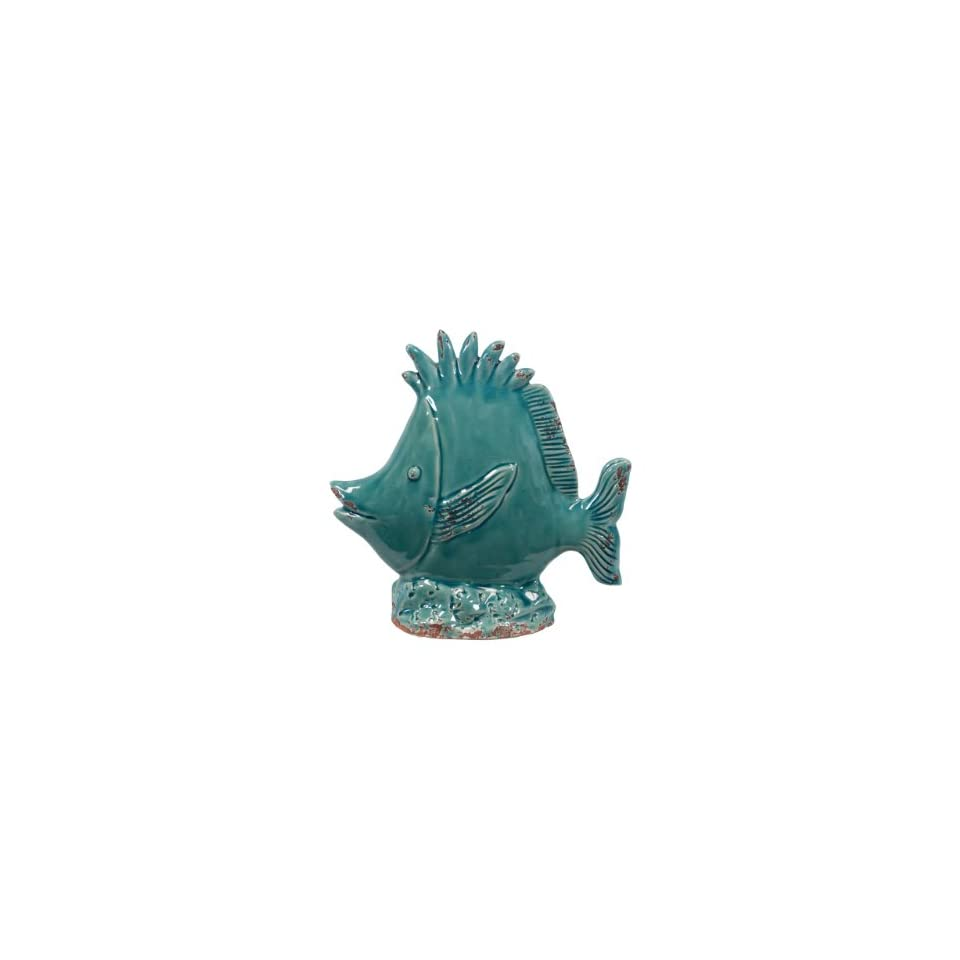 Urban Trends 10817 UT Decorative Ceramic Fish Blue