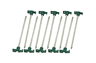 """Set of 10 Heavy Duty Tent Stakes – 10"""" Metal Nail Forged Steel Tent Pegs For Camping Tent Tarp Or Garden Stake"""