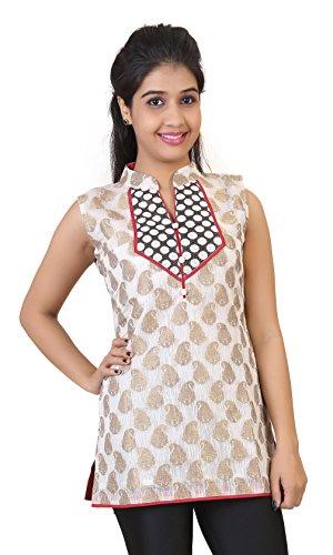 Carrel Womens Brocade Silk Short kurti (Brocade Chinese Silk Dress)