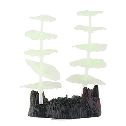 Amazon.com : eDealMax Ornamento planta Coral acuario pecera de emulación Sucker Paisaje subacuático : Pet Supplies