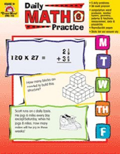 Daily Math Practice Grade 6 by Wes Tuttle (2014-01-01)