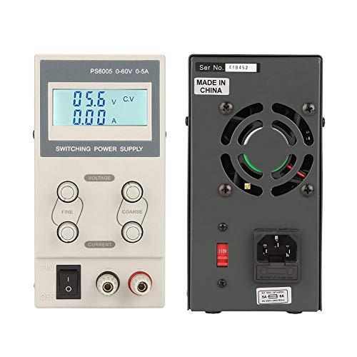 110V/220V EU Plug Mini Digital Alimentatore CC Regolato,Tensione e Corrente Regolabili,con Display LCD con Retroilluminazione,Utilizzato nel Circuito Elettronico etc(PS6005)