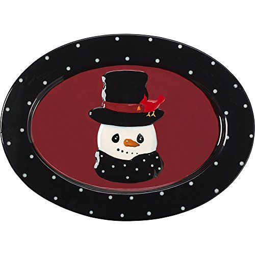 Snow Much Fun by Precious Moments Snowman Holiday Décor Ceramic Serving Platter 171473]()