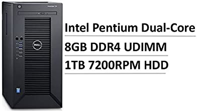 "2017 Newest Flagship Dell PowerEdge T30 Premium Business Mini Tower Server, Intel Pentium Dual-Core G4400 3.3GHz, 2C/2T, 8GB UDIMM, 3.5"" 1TB 7200RPM Entry HDD, Gigabit Ethernet LAN, HDMI, 6xUSB 3.0"