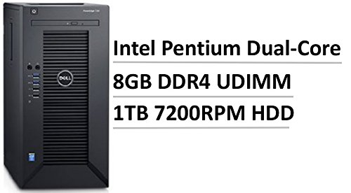 2017 Newest Flagship Dell PowerEdge T30 Premium Business Mini Tower Server, Intel Pentium Dual-Core G4400 3.3GHz, 2C/2T, 8GB UDIMM, 3.5″ 1TB 7200RPM Entry HDD, Gigabit Ethernet LAN, HDMI, 6xUSB 3.0