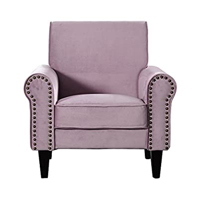 Upholstered Accent Chair with Nailhead Trim-Lavender -  - living-room-furniture, living-room, accent-chairs - 41k kFSqKmL. SS400  -
