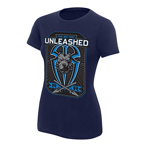 Roman Reigns Big Dog Unleashed Women's T-Shirt Navy Blue Extra Large