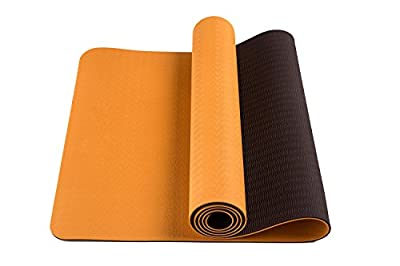 BSM Two Layer TPE Premium Exercise Yoga Mat with Carry Strap