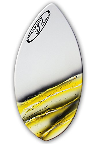 Wave Zone Squirt - 36.5'' Fiberglass Skimboard for Beginners up to 90 lbs - Yellow by Wave Zone Skimboards