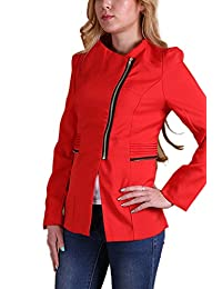 Women's Elegant Zipper Side Jackets With Pockets