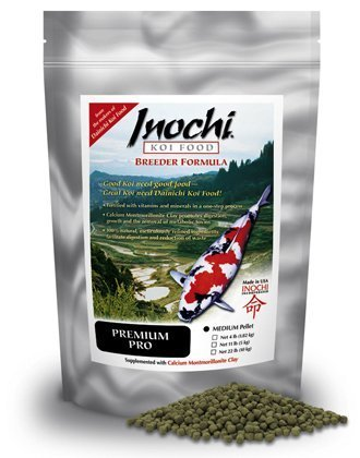Inochi Premium Pro Koi Food, Medium Pellet (22 LB) by Dainichi by Dainichi
