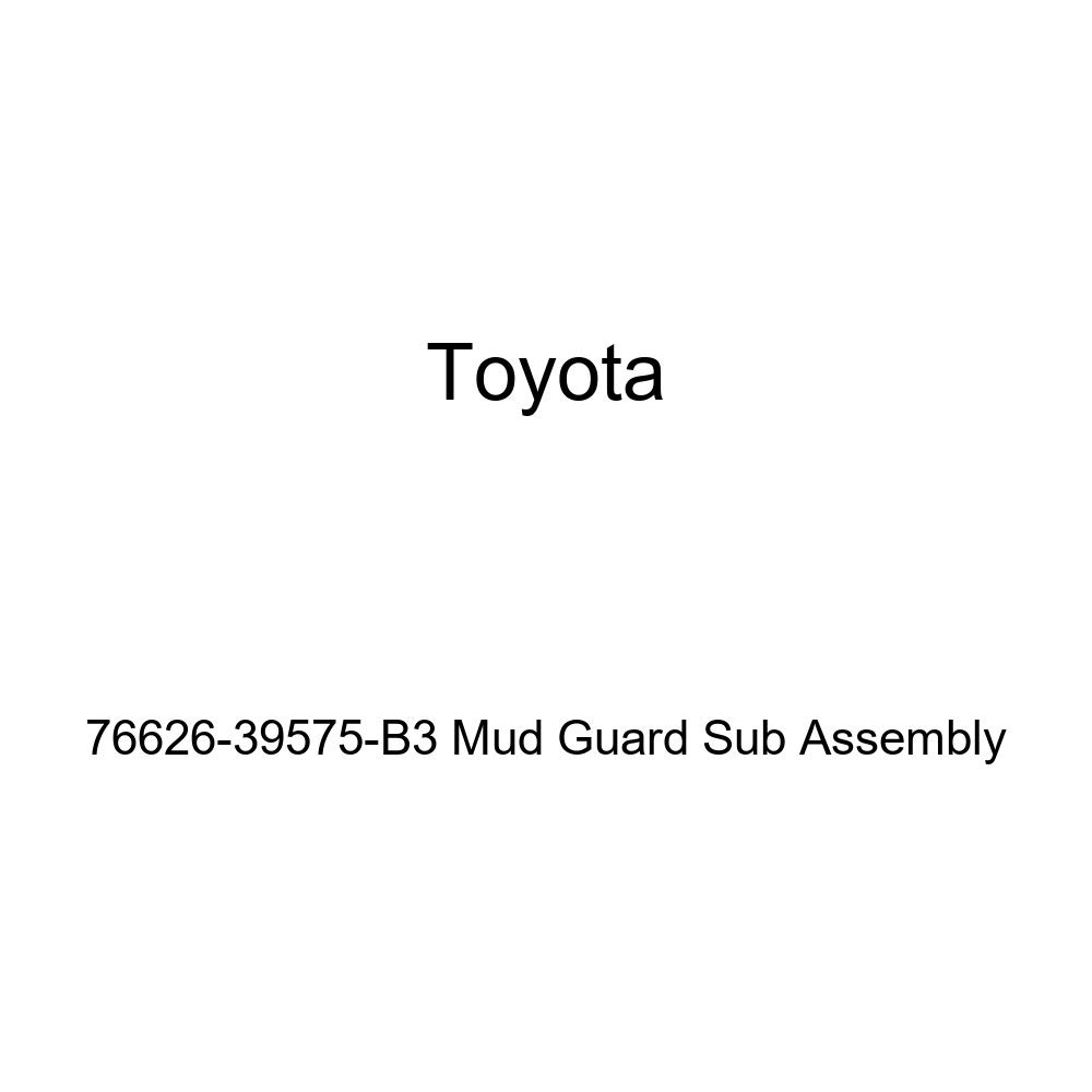 TOYOTA Genuine 76626-39575-B3 Mud Guard Sub Assembly
