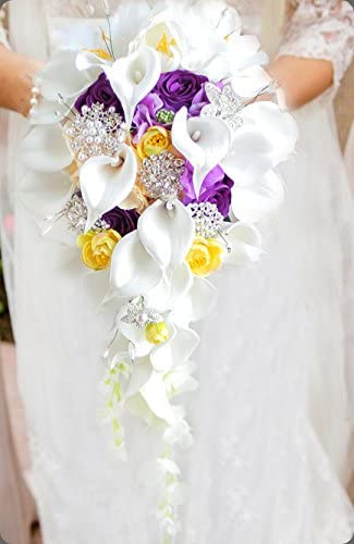 5 Lilac Flowers YELLOW Silk Wedding Flowers Bouquet Centerpieces