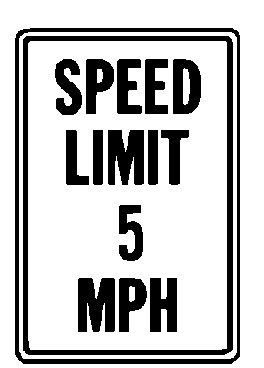 Hy-Ko Products HW-23 Speed Limit 5 MPH Heavy Duty Aluminum Sign 12'' x 18'' Black/White