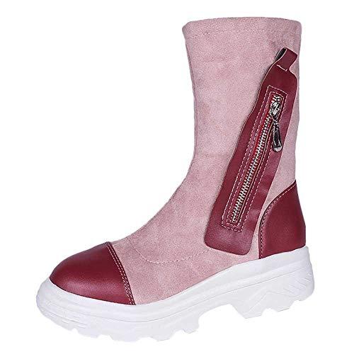 stivali Vino Spesso Neve Stivali Rotondi sneakers Dal stivaletti Alla Da nero 40 Donna Fondo Retrò Moda Vino35 scarpe HqBCttw