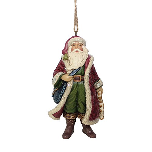 Enesco Jim Shore Heartwood Creek Victorian Santa with Satchel Ornament
