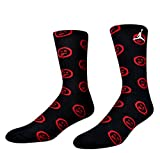 Men's Jordan Socks (806408-010) - BLACK/GYM RED/WHITE (Large)