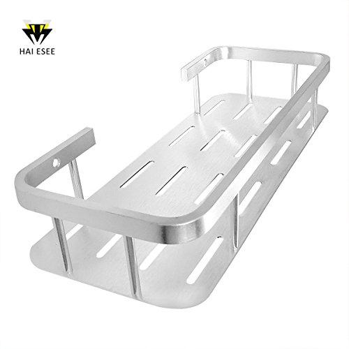 Haiesee Bathroom Shelf, Solid Aluminum Home Kitchen Shampoo Shower Gel Wall Shelf Organizer Shower Storage Rack Holder Bracket Wall Mounted Aluminum Solid Wall Mounted Shelf