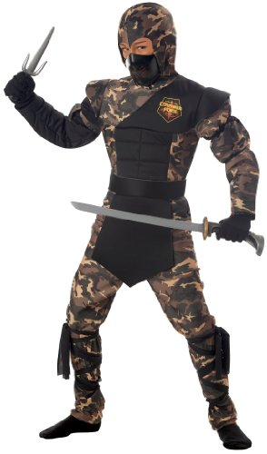Special Ops Ninja Costume - Child Costume - Small (6-8) (Camouflage Special Ops Ninja Child Costume)