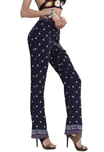 Schlag À Carreaux Blue Pantalon Purplish Femme Aivtalk 51qBAxwE7