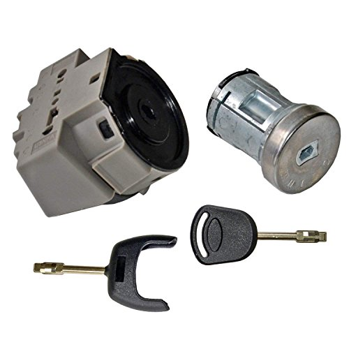 Ignition Switch + Lock Barrel Set with 2 Keys 2S61A3697AA: