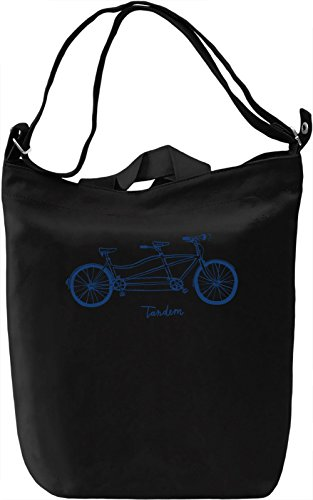 Tandem bike Borsa Giornaliera Canvas Canvas Day Bag| 100% Premium Cotton Canvas| DTG Printing|