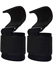 Power Weight Lifting Training Gym Straps Hook bar Wrist Support Lift Gloves(Pair)