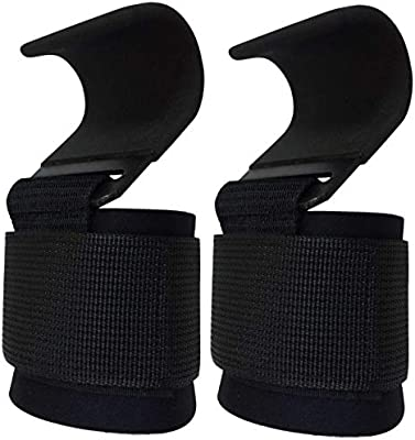1 Pair Power Weight Lifting Training Gym Hook Grips Straps Wrist Support Gloves