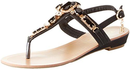 Laura Biagiotti Women's Patricia Ankle Strap Sandals Black (Nero 01) iFPhB