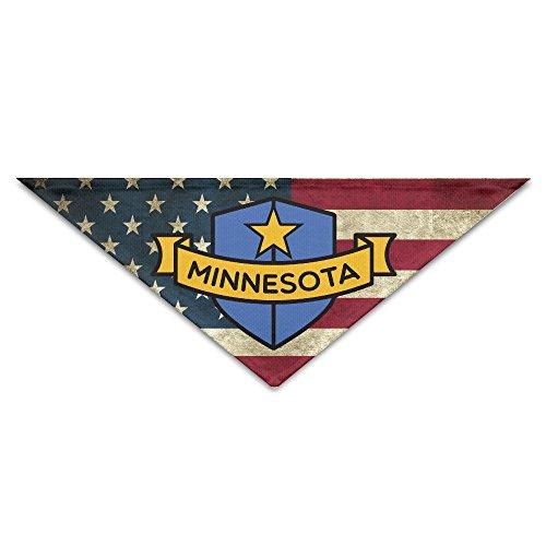 Minnesota Shield Pet Scarf  Dog Bandana  Pet Collars  Triangle Neckerchief Men Women Kid Pet Dog Cat Puppies Accessories 100  Polyester Fiber Headband Bib