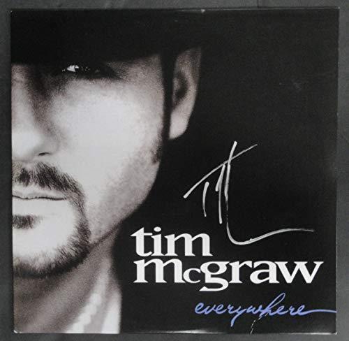 (Tim McGraw Signed Vintage Autographed Record Album Everywhere JSA P41048)