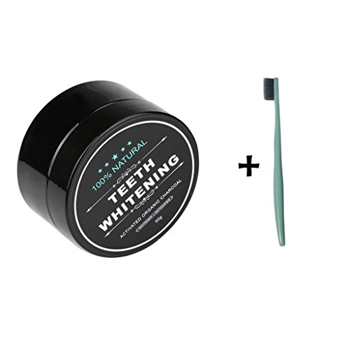 Mapletop Teeth Whitening Powder, Natural Organic Activated Charcoal Bamboo Toothpaste