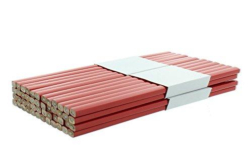 Zimmermannsbleistifte rot viereckig 250 mm 48 Stück Baubleistift Handwerker Bleistift