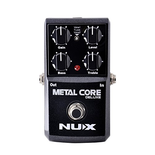 Grunge Distortion Guitar (NUX METAL Core Deluxe Extreme Metal distortion Guitar Effects Pedal Upgraded mode High Gain 2 models)