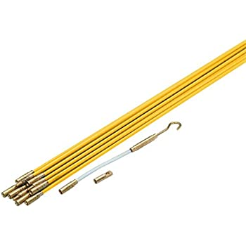 electric fiberglass wire pull rods fish tape com cen tech 65327 3 16 x 11 fiberglass wire running kit