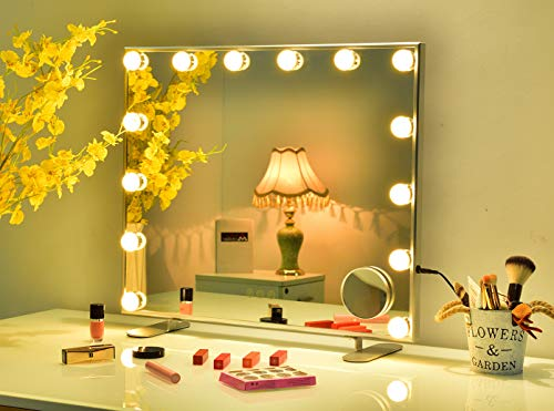 Hansong Vanity Mirror with Lights,Hollywood Lighted Makeup Dressing Tabletop Mirror or Wall Mounted Beauty Mirrors with…