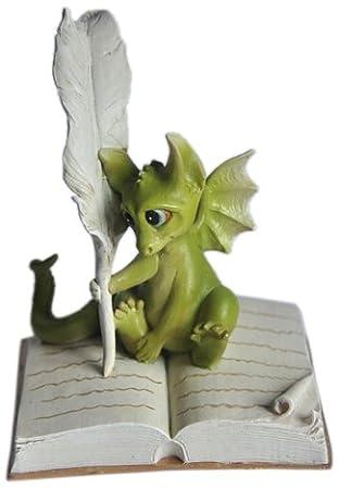 Amazon.com : Top Collection Enchanted Story Fairy Garden Dragon ...