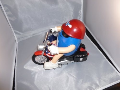 Chocolate Candy Dispenser - M&M's World Motorcycle with Side Car - Freedom Rider - Red, White & Blue Chocolate Candy Dispenser without a Collector's Box