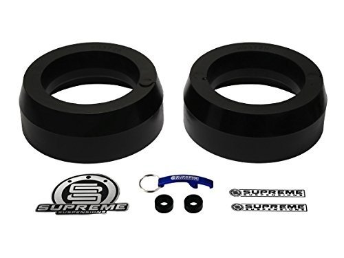 """Supreme Suspensions - Front Leveling Kit for 2003-2014 Toyota 4Runner Non-SR5 2"""" Rear Suspension Lift Spring Spacers Kit 4WD 4x4 (Black)"""